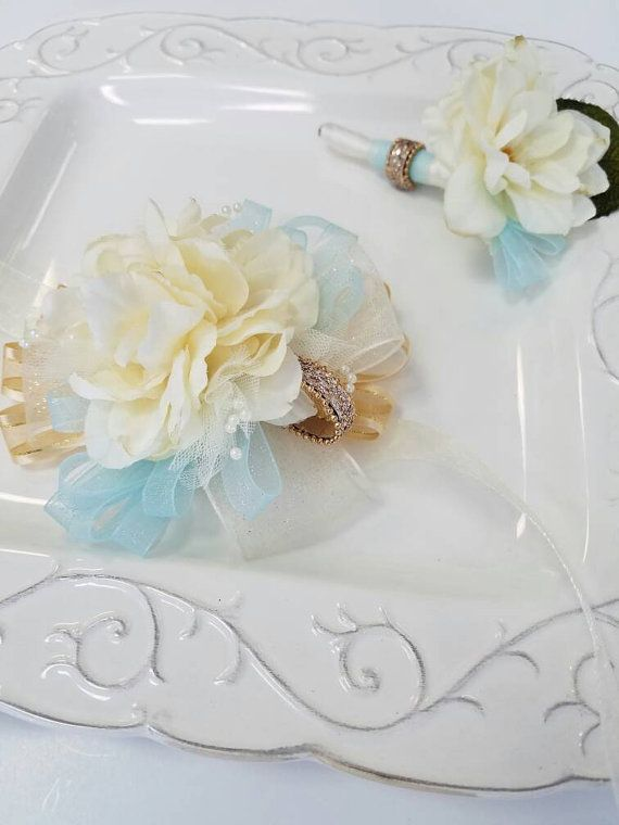 High Quality Check Out This Item In My Etsy Shop  Https://www.etsy.com/listing/471199340/prom Corsage Set Light  Champagne Antique