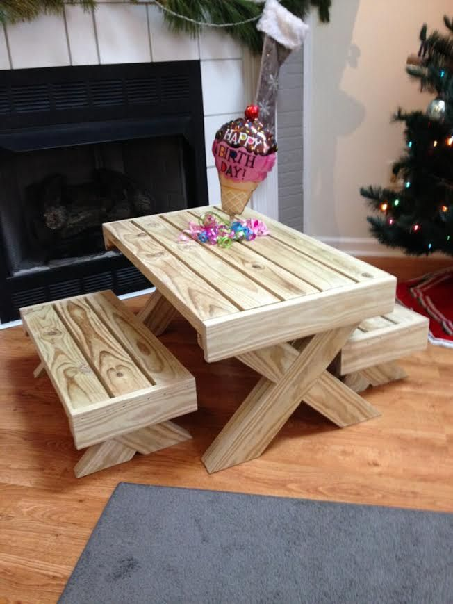 Birthday Gift - Picnic Table | Do It Yourself Home Projects from Ana ...