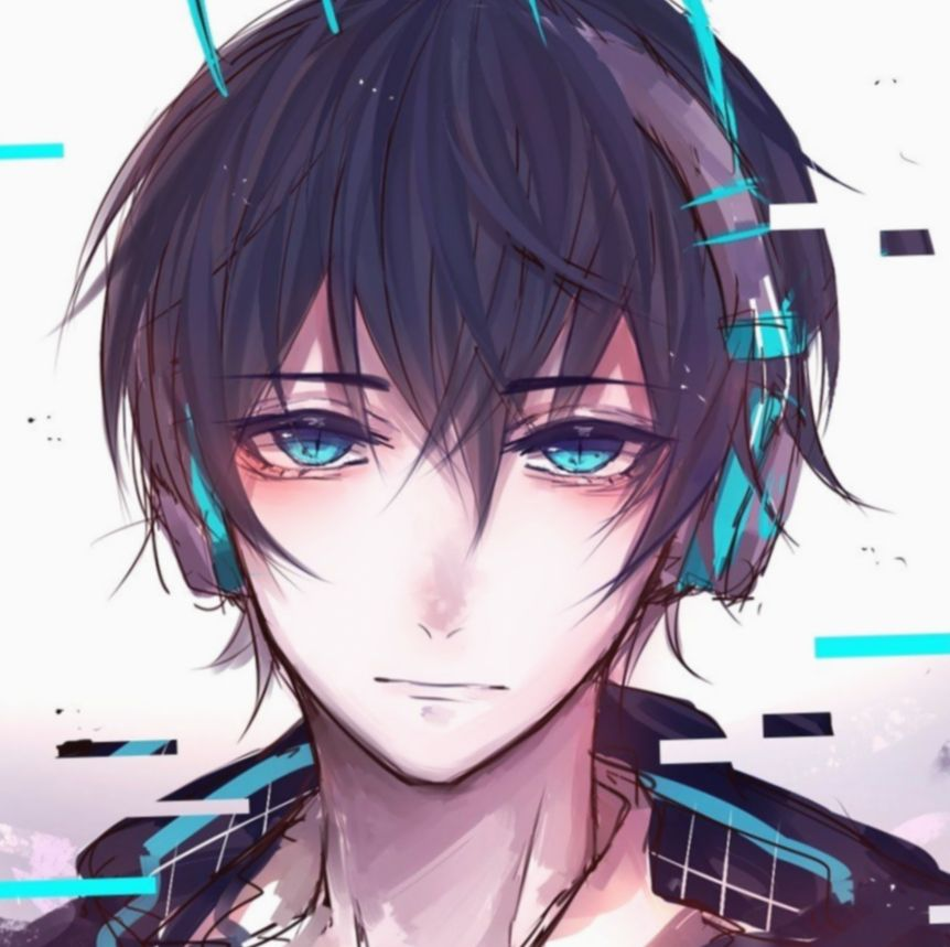 Anime Guys With Headphones Eyes Bokunoheroacademia Katsuki Bakugoucosplay Anime Guys Anime Guy Blue Hair Anime Boy