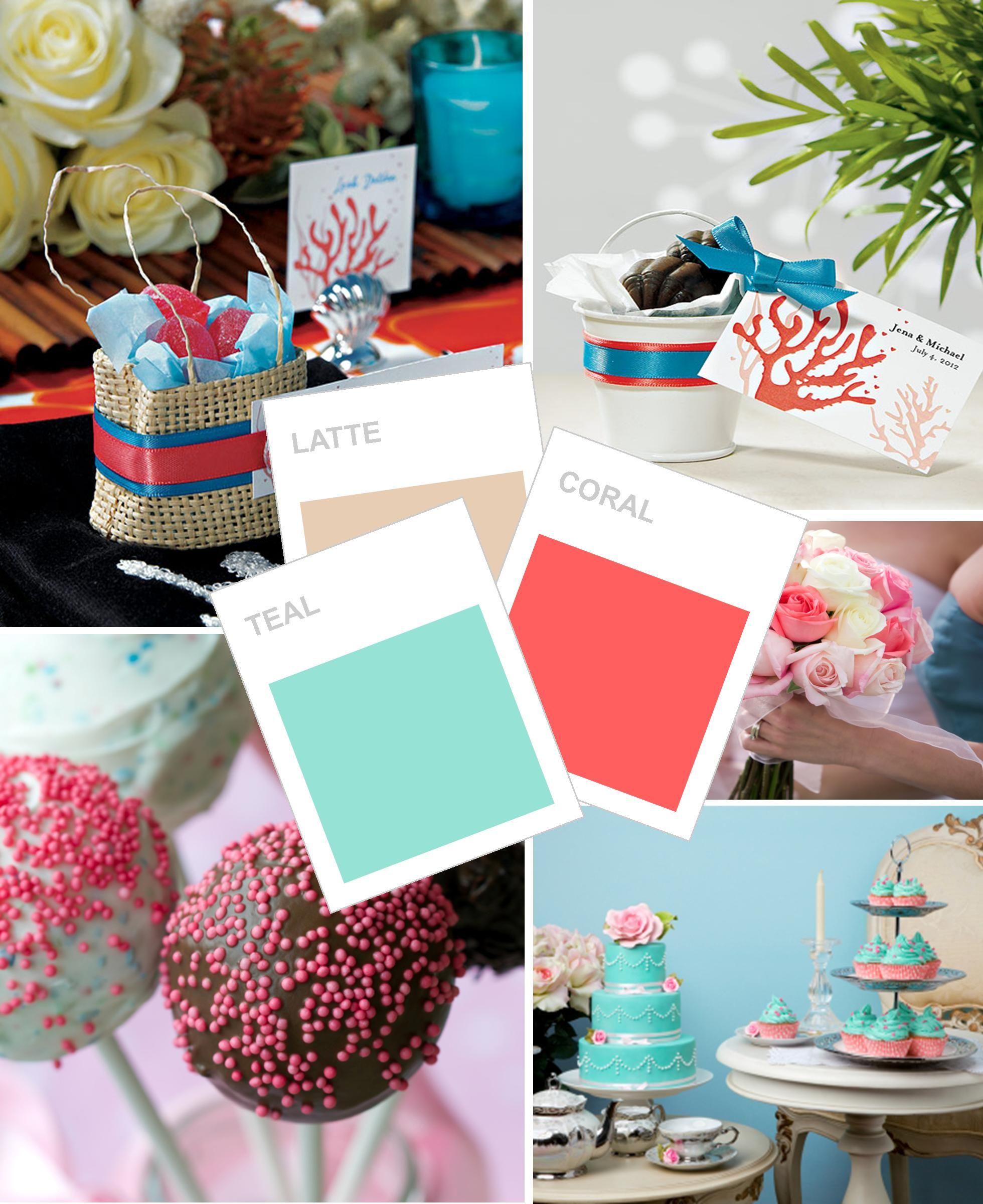 Key West Wedding Ideas: Coral, Teal And Latte Wedding