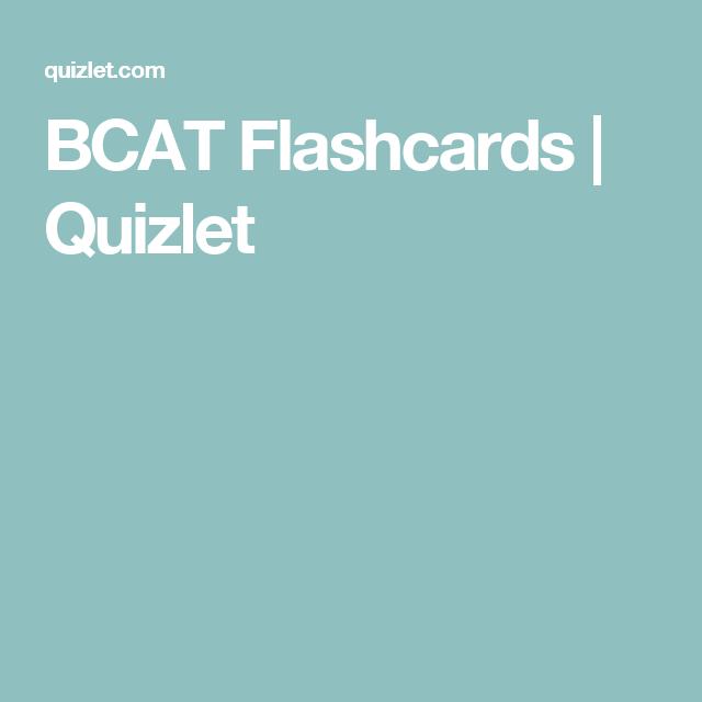 BCAT Flashcards | Quizlet