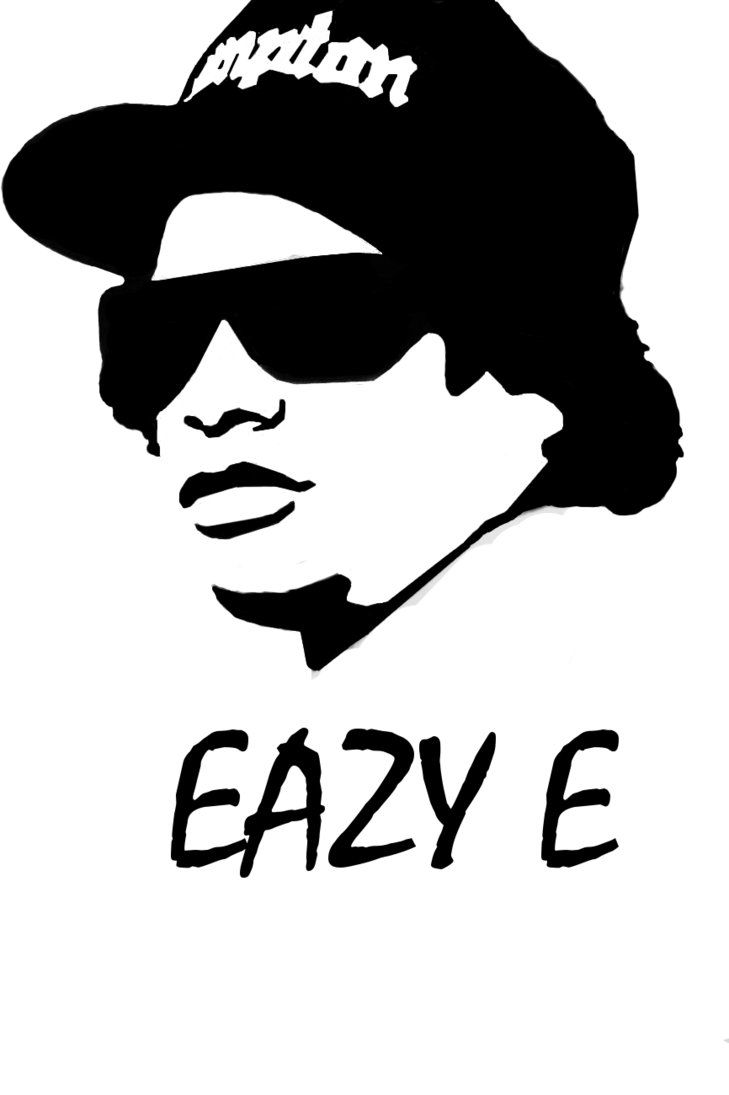 Eazy E Silhouette Art Rapper Art Pop Art Portraits