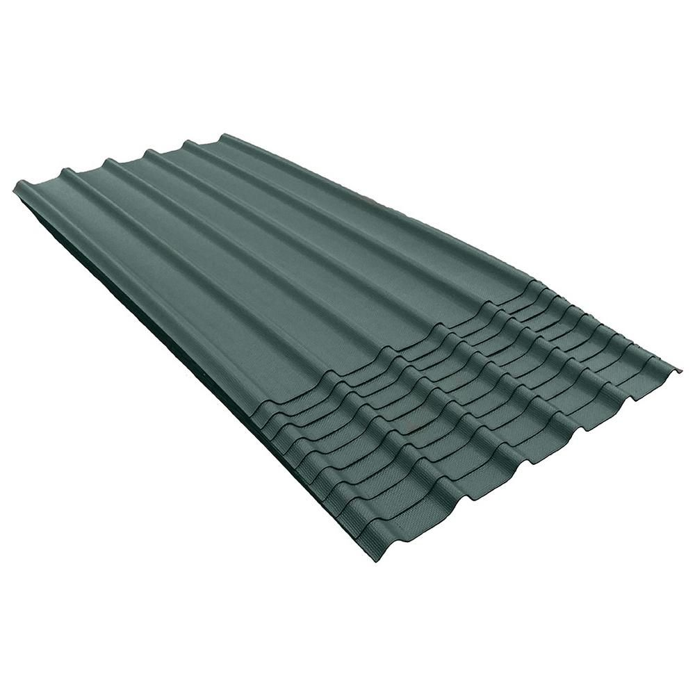 6v 6 1 2 Ft X 3 33 Ft Asphalt Roof Panel In Midwest Green 200 Sq Ft Per Bundle 10 Pack Roof Panels Asphalt Roof Stainless Steel Fasteners