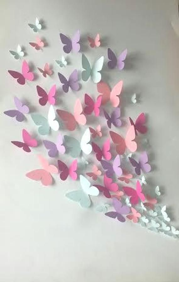 Butterfly Room Decoration Ideas With Paper Craft