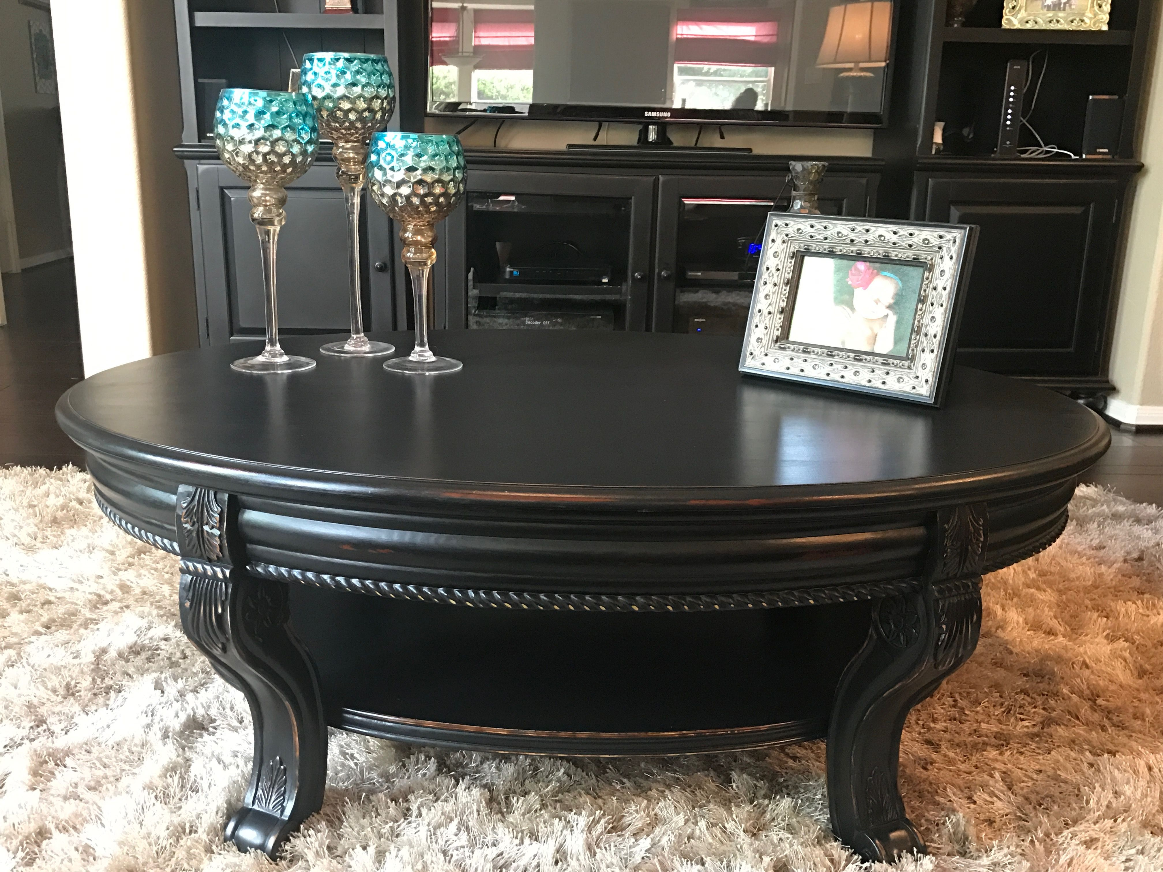 Coffee Table Refinished In Valspar Black Boots And Distressed Gorgeous Coffee Table Refinish Black Distressed Furniture Black Furniture Living Room