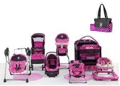 Baby Gear Bundle Stroller Travel SystemPlayardBouncerSwingWalkerDiaper Bag