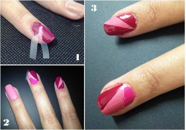 Uñas con esmalte y adhesivos 3