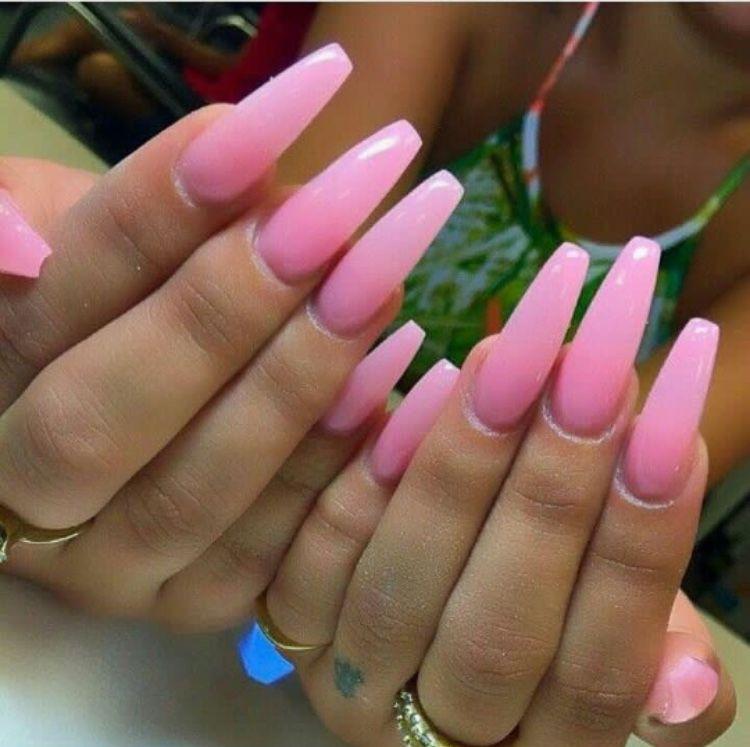 Beautiful Pink long nails | 5. Double Team + Dynamicpunch Beautiful ...