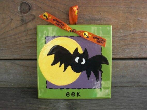 What a cute bat!!! #etsy #handmade #halloween #diy #crafts - halloween diy crafts