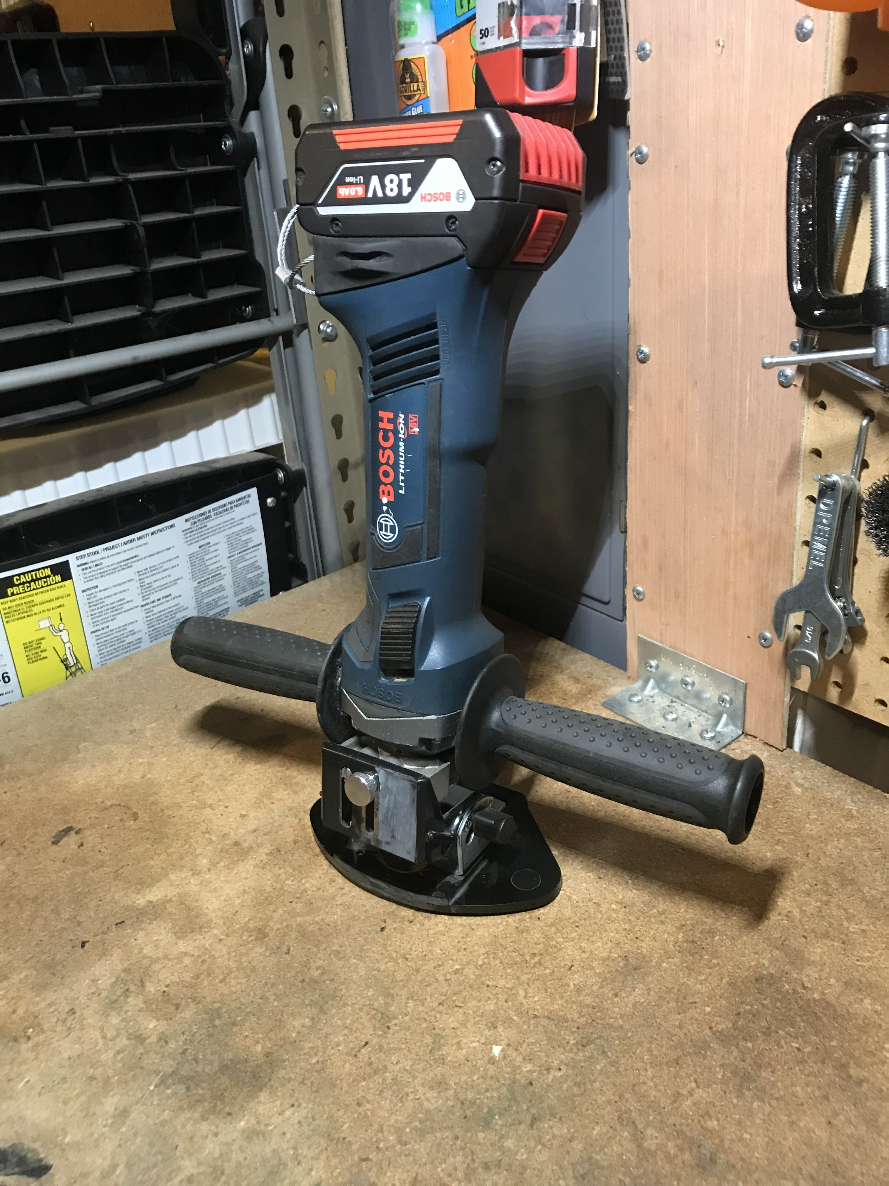 Bosch 18v Die Grinder I Gave It A Lil Bit Of A Face Lift 3rd Generation Concept Now It S My Custom 18v Router As Well Bosch Tools Electrical Tools Bosch