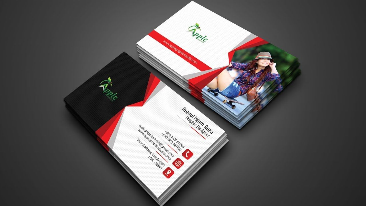 e66d5a3f43a1b Print Ready Professional Business Card Design - Photoshop Tutorial ...
