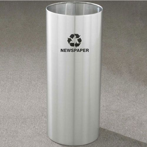 14 Gallon 12 x 29 Open Top Recycle Bin Satin Aluminum RO-1229SA ...