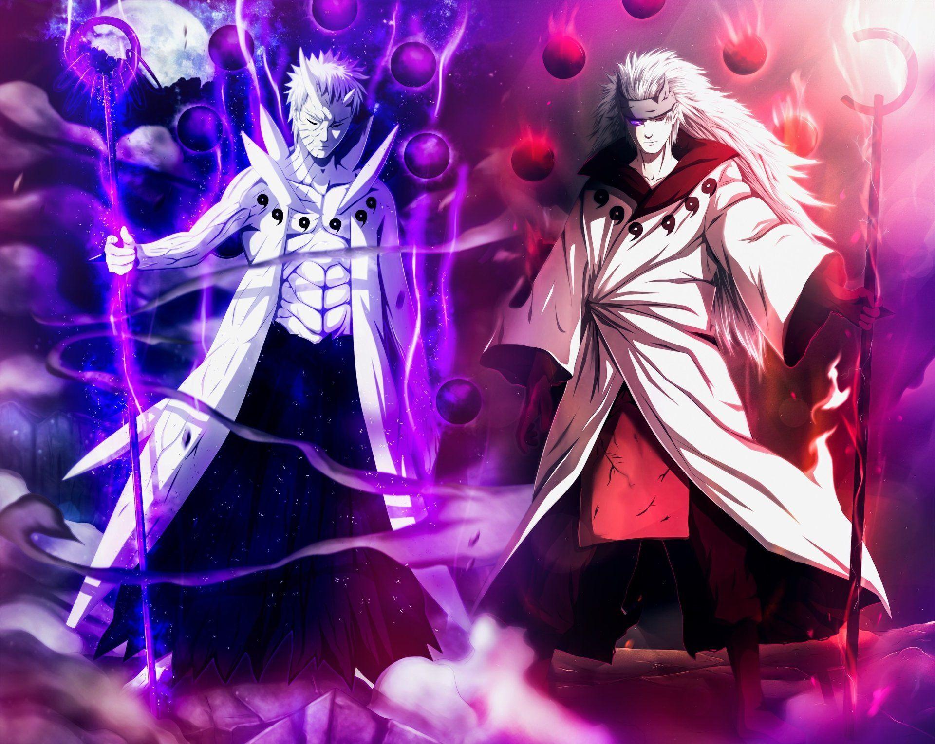 Anime Naruto Madara Uchiha Obito Uchiha Sage Of Six Paths Anime Wallpaper Madara Uchiha Wallpapers Naruto Madara Madara Uchiha