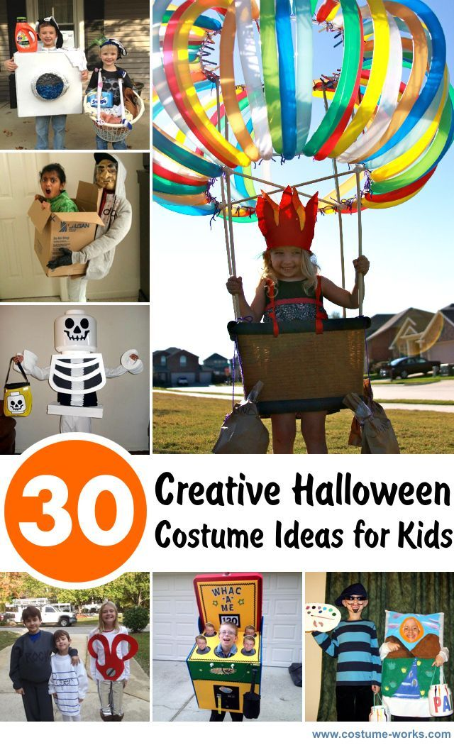 30 DIY Creative Halloween Costume Ideas For Kids get crafty - homemade halloween decorations kids
