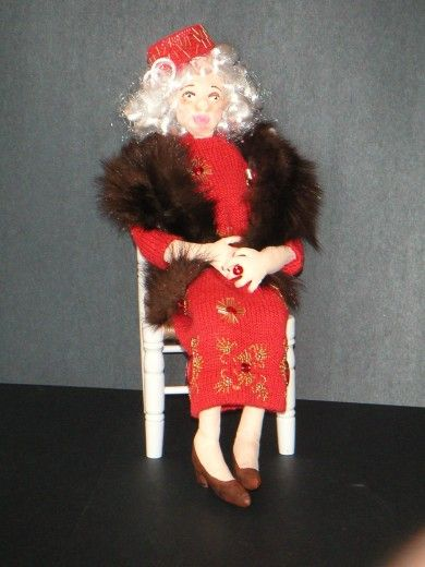 Aunt Mildred by Joanne Cranston.  Made from skills gained in a Sherry Goshon class