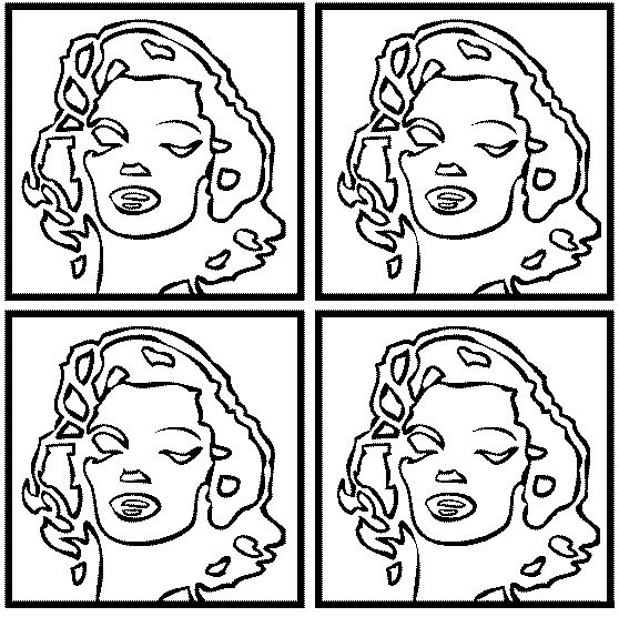 Line Art Ks2 : Andy warhol marilyn monroe coloriages pinterest