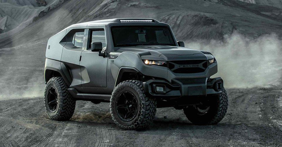 The Rezvani Tank X Is A Just A Little Bit More Extreme Than The Standard Model And Has A Price To Match Under The Bonnet The Tank X Fea Military Vehicles Vehicles