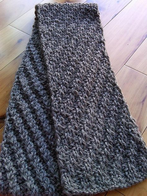 Staggered Rib Scarf in 2020 (With images) | Ribbed scarf ...