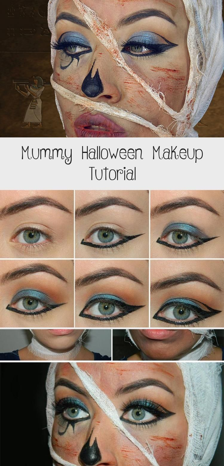 Mummy Halloween Makeup Tutorial Eye Makeup Mummy