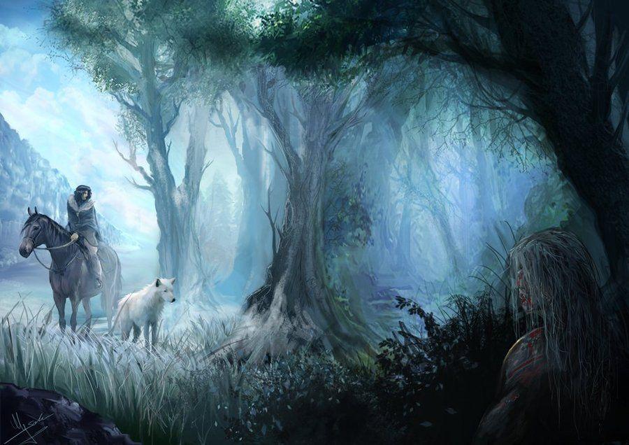 Jon Snow Beyond The Wall By Evolvana Fan Art Pinterest