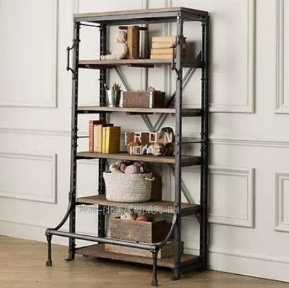 Vintage French Wrought Iron Shelves Loft Living Room Bookcase Industrial TV Cabinet To Do On