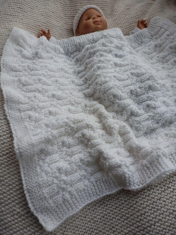 Plaid maille tricot cheap plaid en carrs de tricot - Tricoter un plaid facile ...