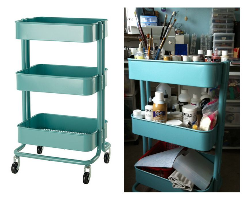Ikea R Skog Kitchen Cart Is Perfect For Paint Supplies In
