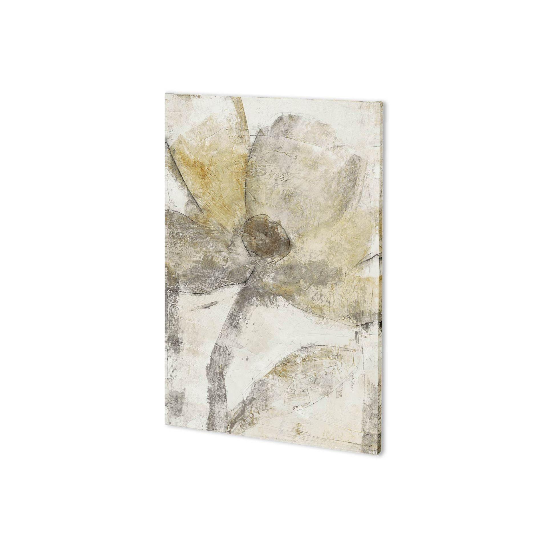 Mercana Une Fleur II (26 x 38) Made to Order Canvas Art, White