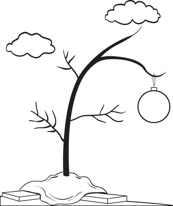 FREE Printable Charlie Brown\'s Christmas Tree Coloring Page for Kids ...