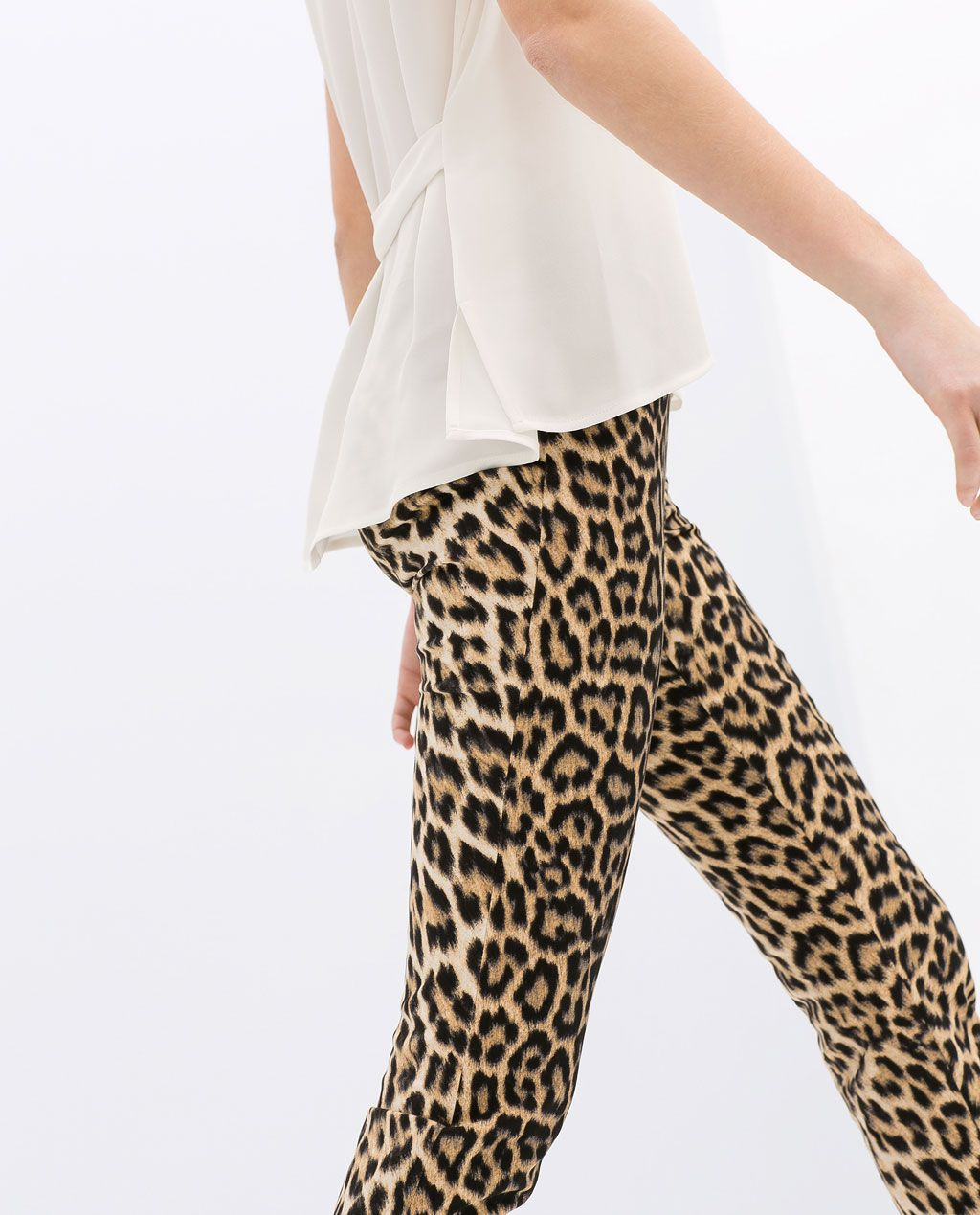 430e7799cc14 Image 5 of LEOPARD PRINT TROUSERS from Zara | Leopard Love | Printed ...