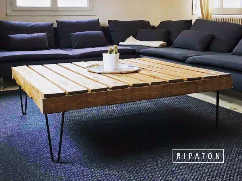 atelier ripaton hairpin legs belle r alisation en palette diy meuble. Black Bedroom Furniture Sets. Home Design Ideas