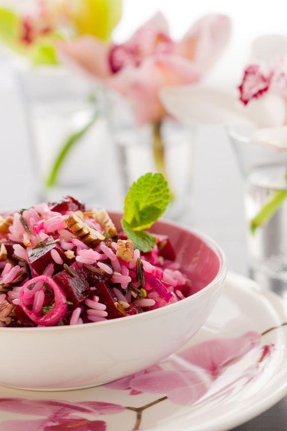 Salade de riz minceur à la betterave et au thon