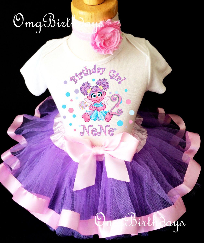Abby Cadabby Tutu Shirt Tee Sequins Headband 4th Birthday Girl Outfit Set dress
