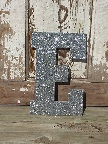 Decorative 13 Silver Glitter Wall Letters Girls Bedroom Decor Home Decor Wedding