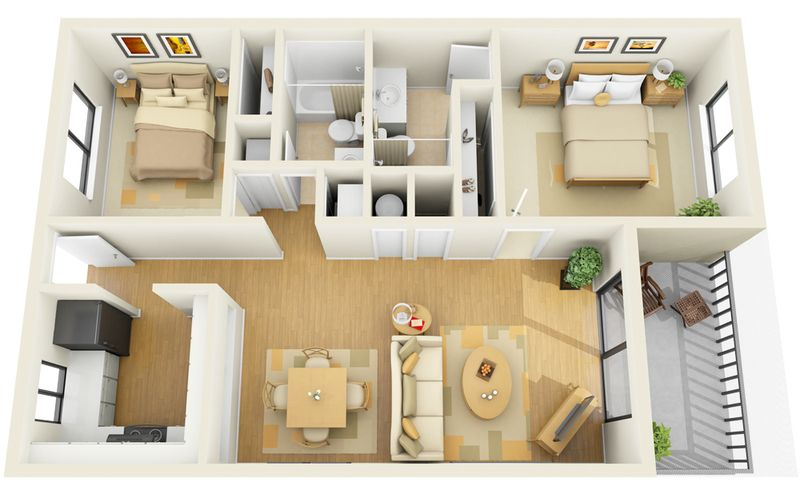 Make the smaller room an office apartment layout also pinterest small rooms rh
