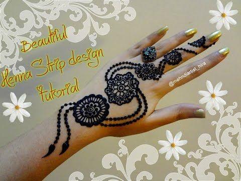 Mehndi For Diwali : Easy diy henna design beautiful latest mehndi strip