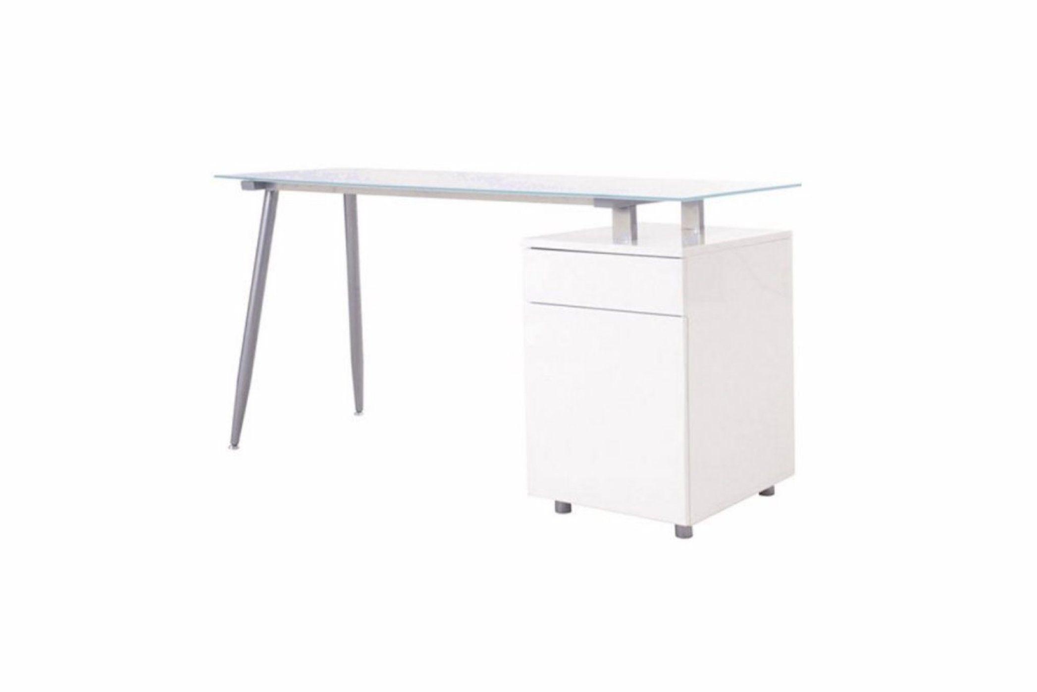 skrivebord hvid højglans