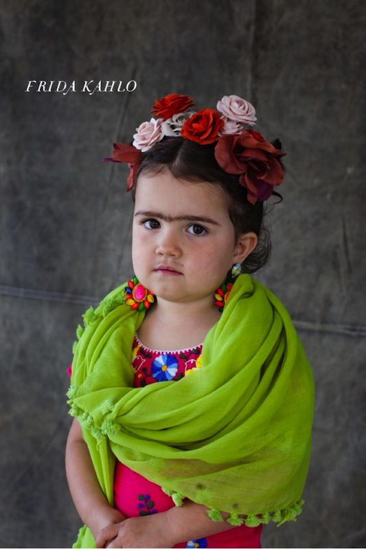 Little Frieda - cute costume if anyone around here actually had any idea who Frida Kahlo is.