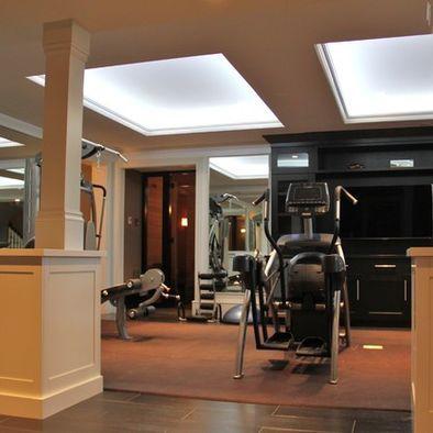 home gym designceiling lights