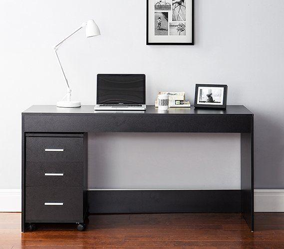 Remillard Simple Style Work Computer Desk Black Desk Room Desk Dorm Room Desk