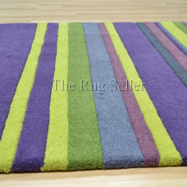 Purple And Green Wool Stripes Rugs In Lime Online From The Rug Er Uk Juniper
