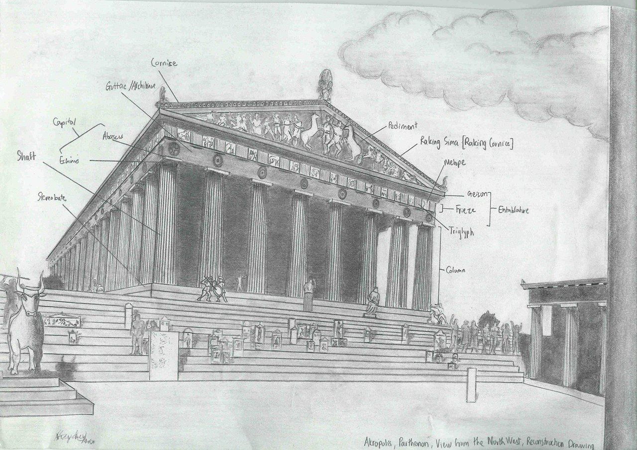 Greek Architecture Drawings Architecture Drawing I...