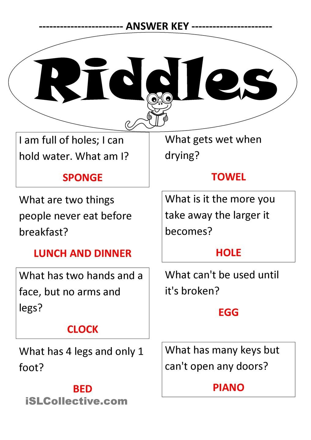 Riddles Funny jokes for kids, Jokes for kids, Funny riddles