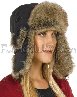 Wear this warm furry black faux fur Trapper Hat for women and be the envy  of all your outdoor friends. This women s Trapper Hat offers a modern twist  on a ... d6649f9b9fc