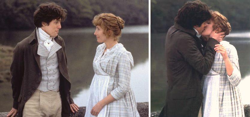 Sense and Sensibility (1995) Starring: Hugh Grant as Edward Ferrars and Emma Thompson as Elinor Dashwood.
