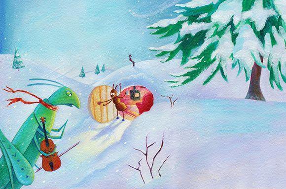 ant and grasshopper - Alex Steele-Morgan #grasshopper #ant #childrensbook #illustration #alexandrasteelemorgan