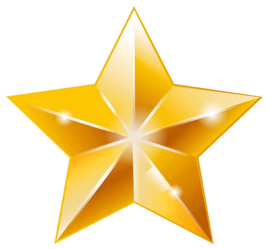 Golden Star Vector Done In 2015 Via Illustrator Created It As Practice Using Tools In The Software It S Also A Free To Use But Credit Back Resource Deco