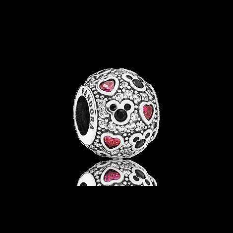 Disney, Sparkling Mickey & Hearts - 791457CZ - Charms | PANDORA