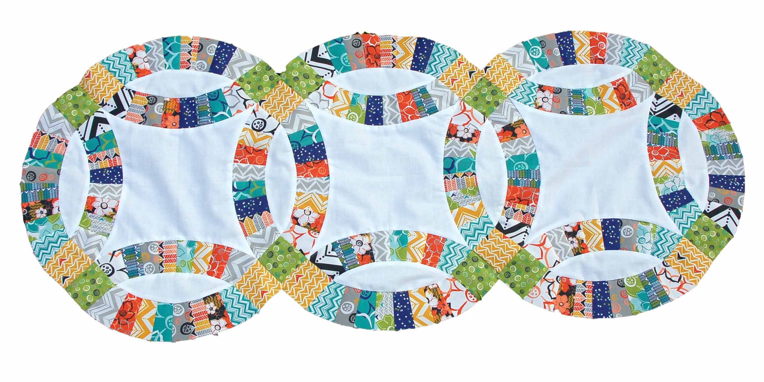 double wedding ring quilt challenge template giveaway - Double Wedding Ring Quilt Pattern