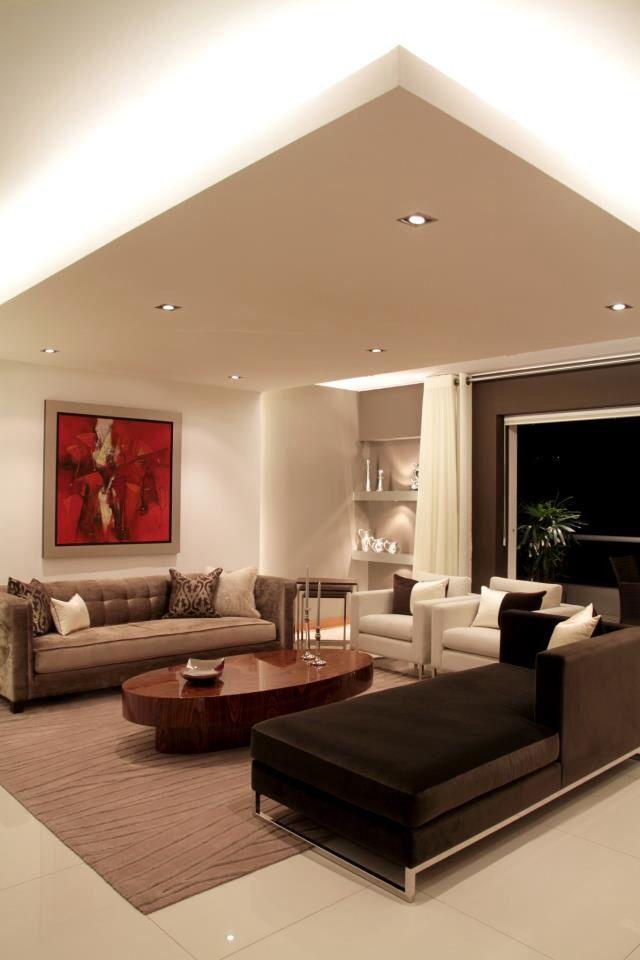 Pin de Norvey en Luces Pinterest Sala de estar, Salas pequeñas y - Techos Interiores Con Luces